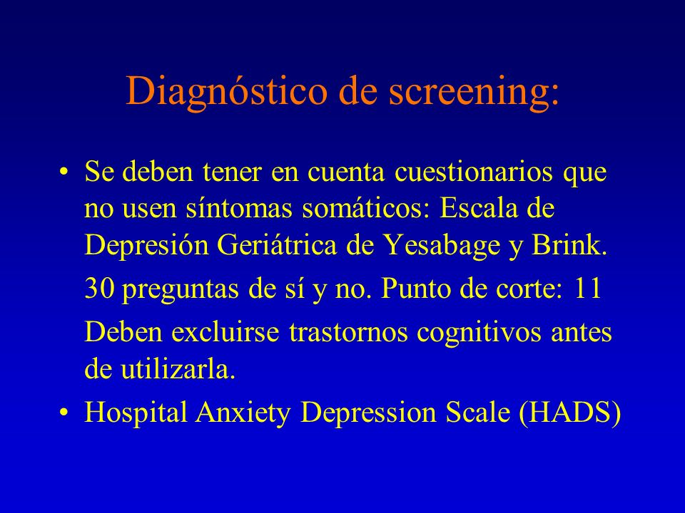 Diagnóstico de screening: