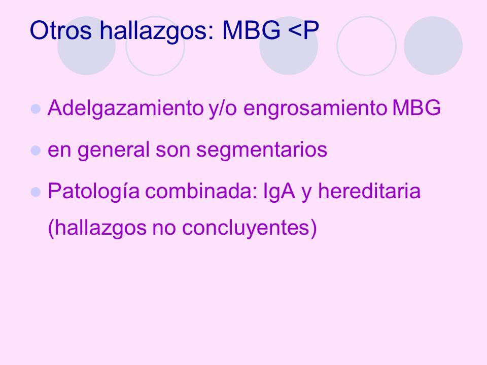 Otros hallazgos: MBG <P