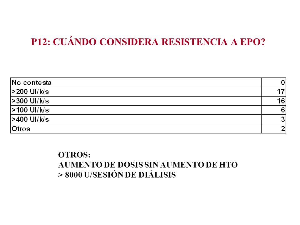 P12: CUÁNDO CONSIDERA RESISTENCIA A EPO