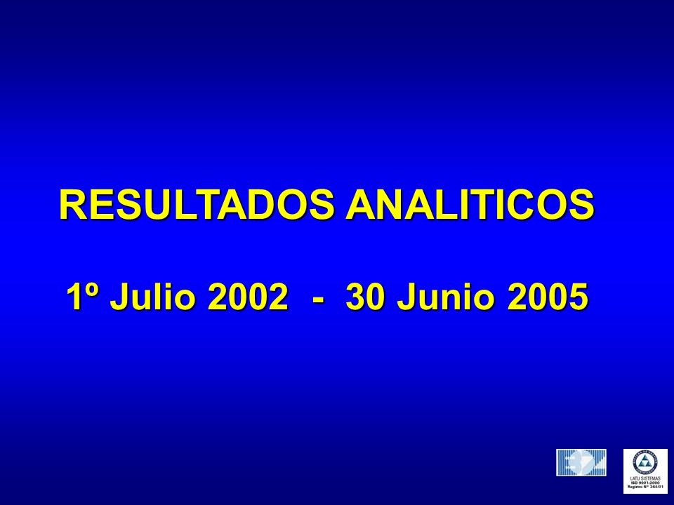 RESULTADOS ANALITICOS
