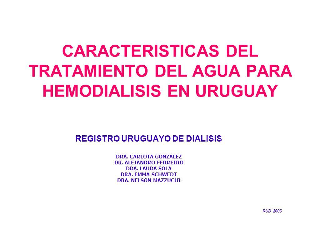 CARACTERISTICAS DEL TRATAMIENTO DEL AGUA PARA HEMODIALISIS EN URUGUAY