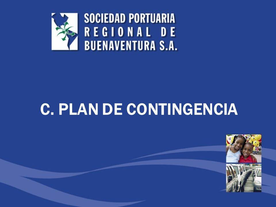 C. PLAN DE CONTINGENCIA