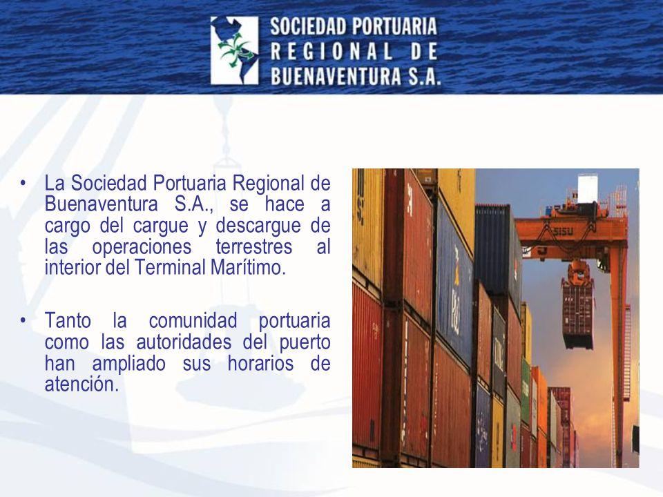 La Sociedad Portuaria Regional de Buenaventura S. A