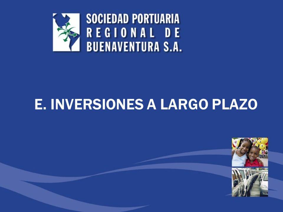 E. INVERSIONES A LARGO PLAZO