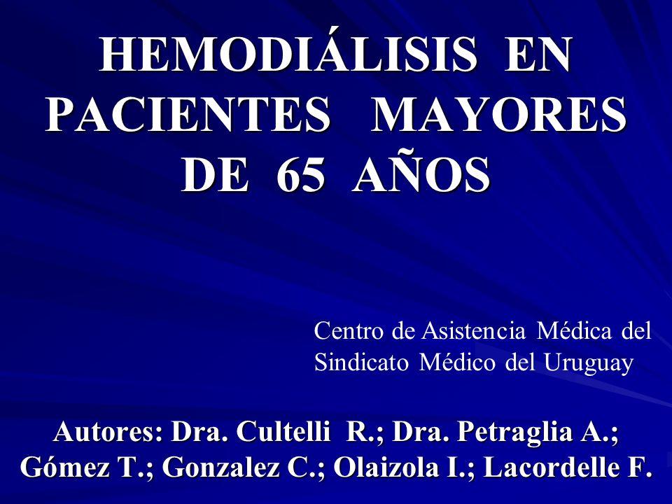 HEMODIÁLISIS EN PACIENTES MAYORES DE 65 AÑOS