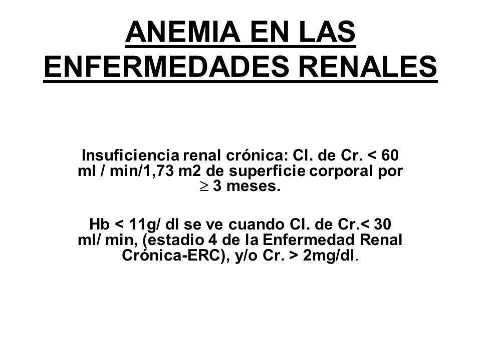 ANEMIA EN LAS ENFERMEDADES RENALES