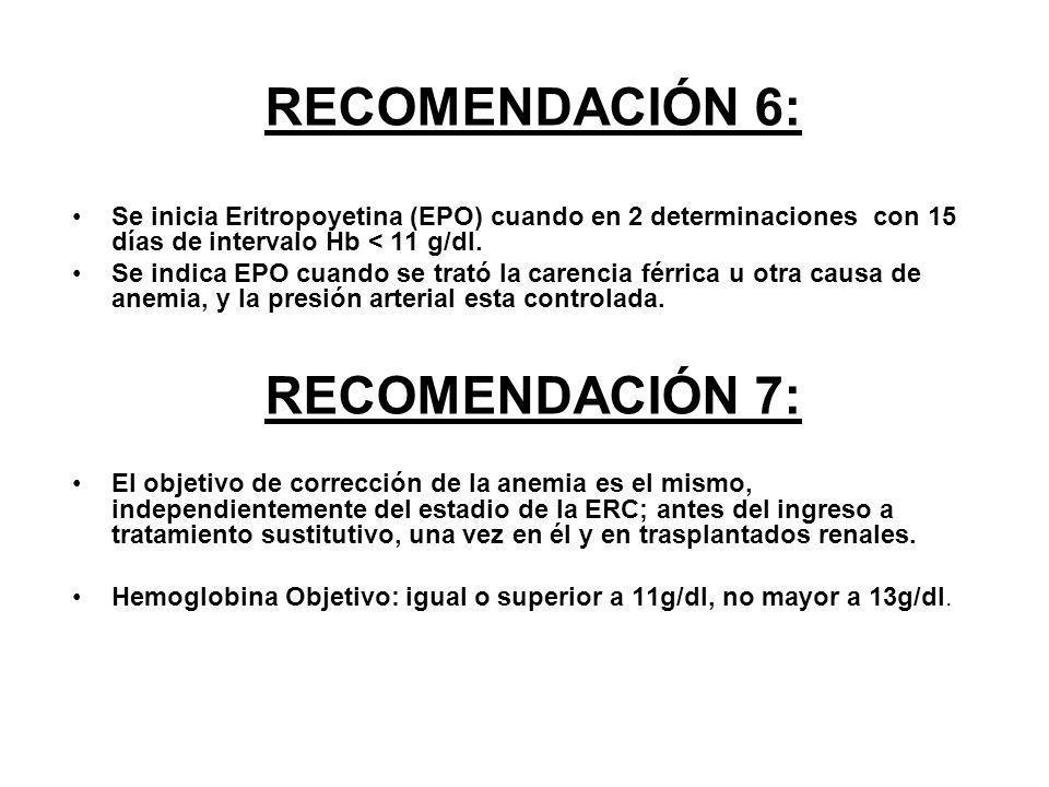 RECOMENDACIÓN 6: RECOMENDACIÓN 7: