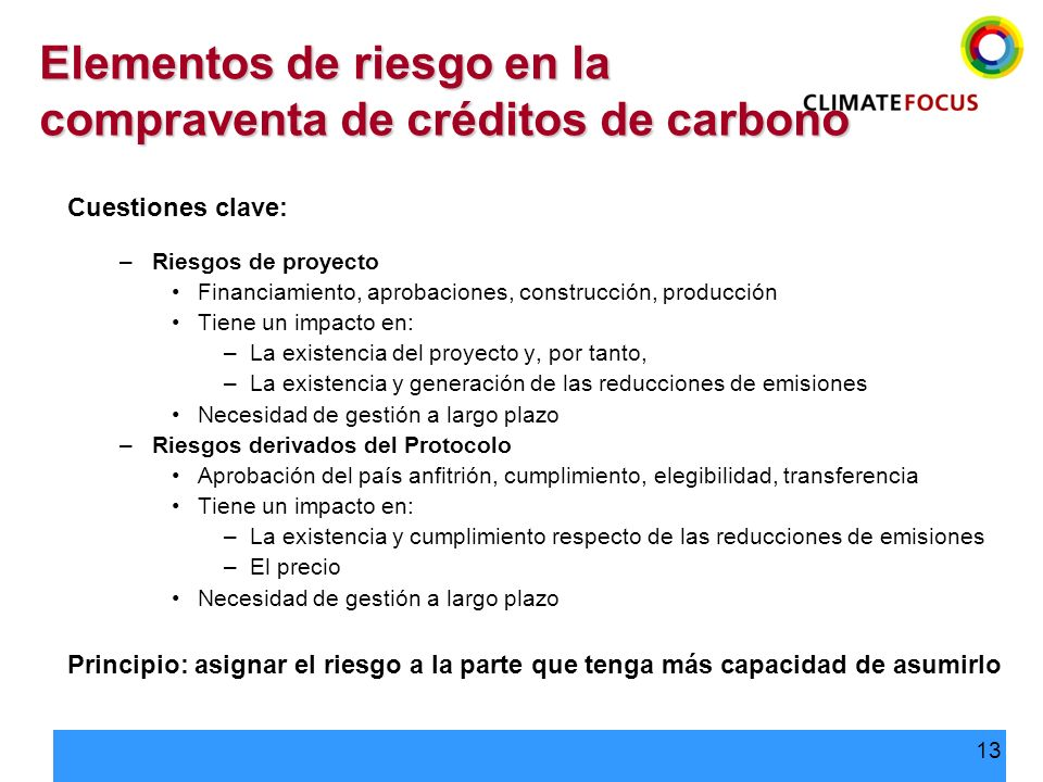 Elementos de riesgo en la compraventa de créditos de carbono
