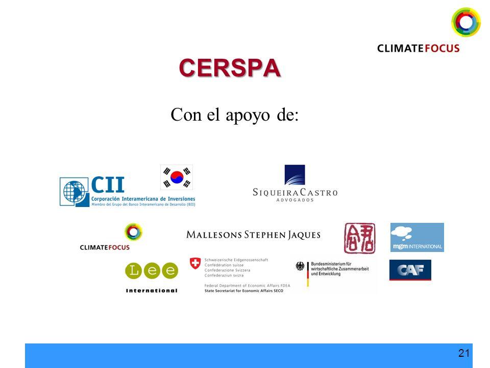 CERSPA Con el apoyo de: