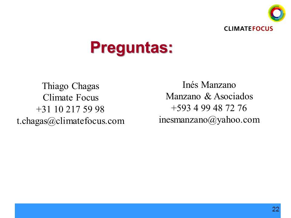 Preguntas: Inés Manzano Thiago Chagas Manzano & Asociados
