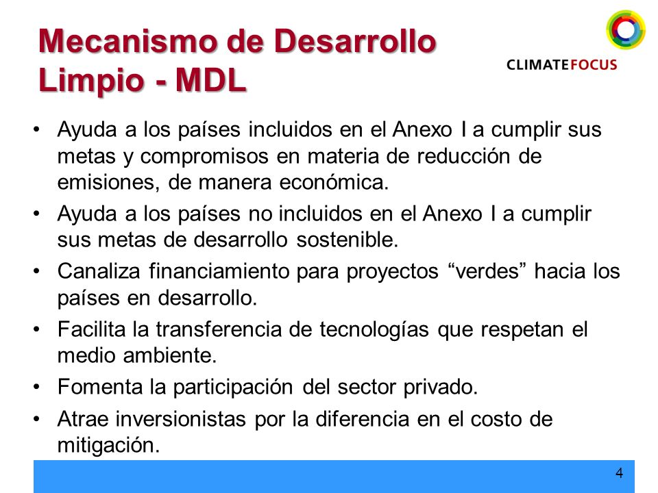 Mecanismo de Desarrollo Limpio - MDL