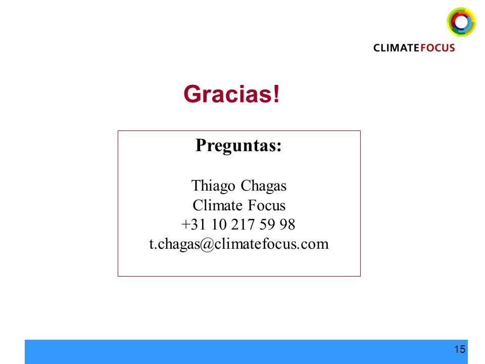 Gracias! Preguntas: Thiago Chagas Climate Focus +31 10 217 59 98