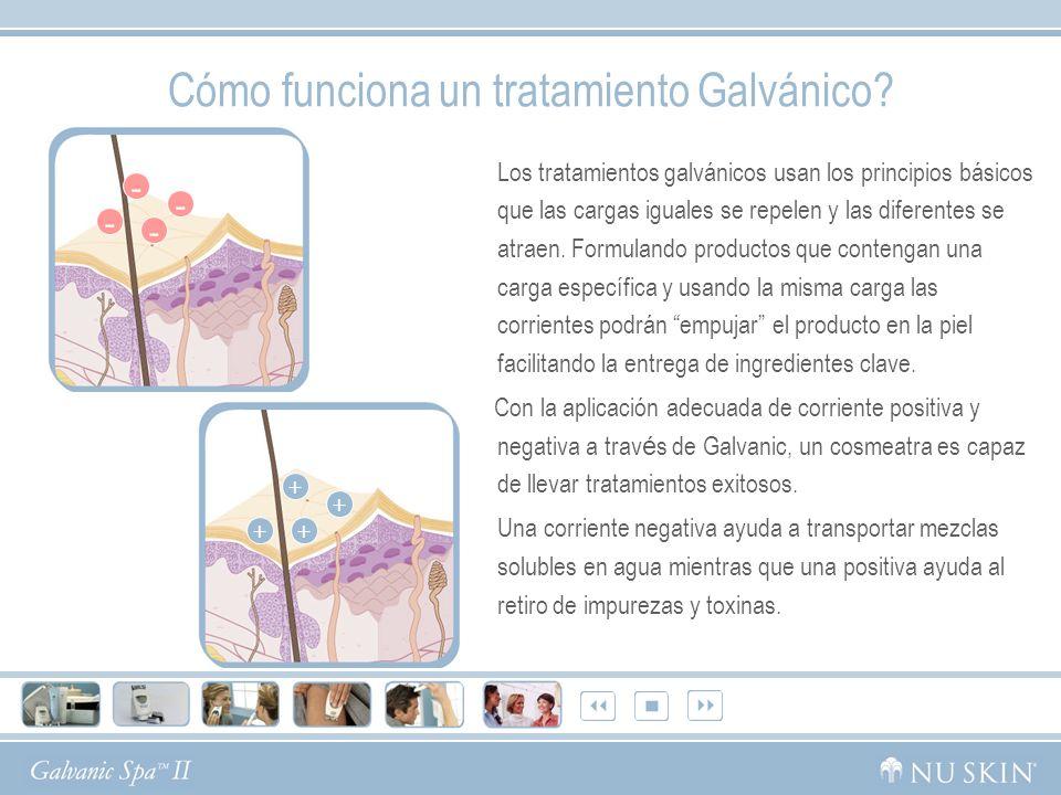 Cómo funciona un tratamiento Galvánico