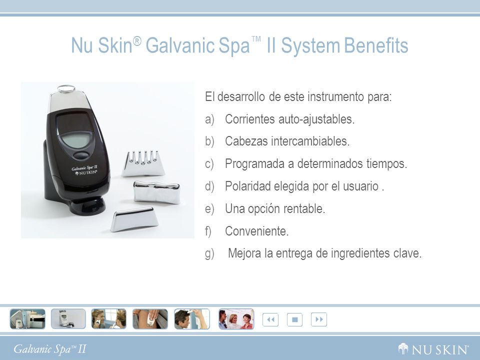 Nu Skin® Galvanic Spa™ II System Benefits