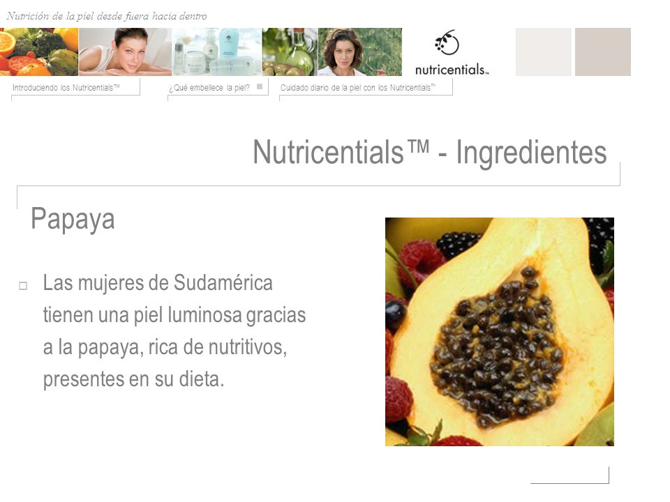 Nutricentials™ - Ingredientes