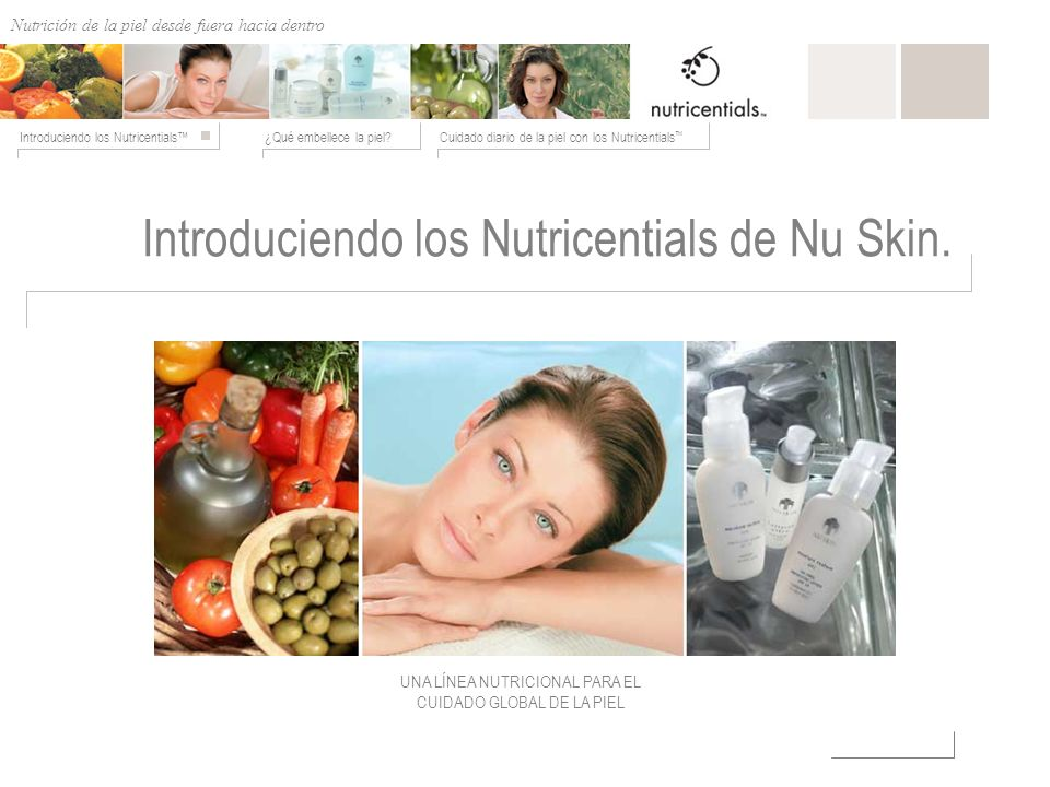 Introduciendo los Nutricentials de Nu Skin.