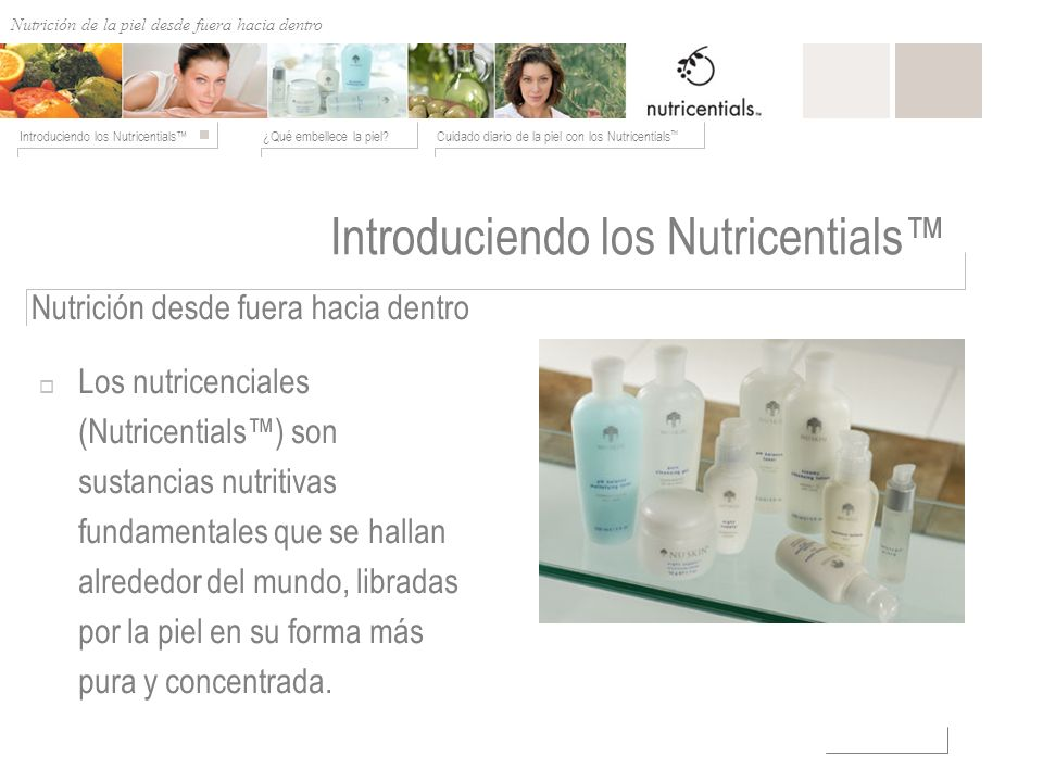 Introduciendo los Nutricentials™