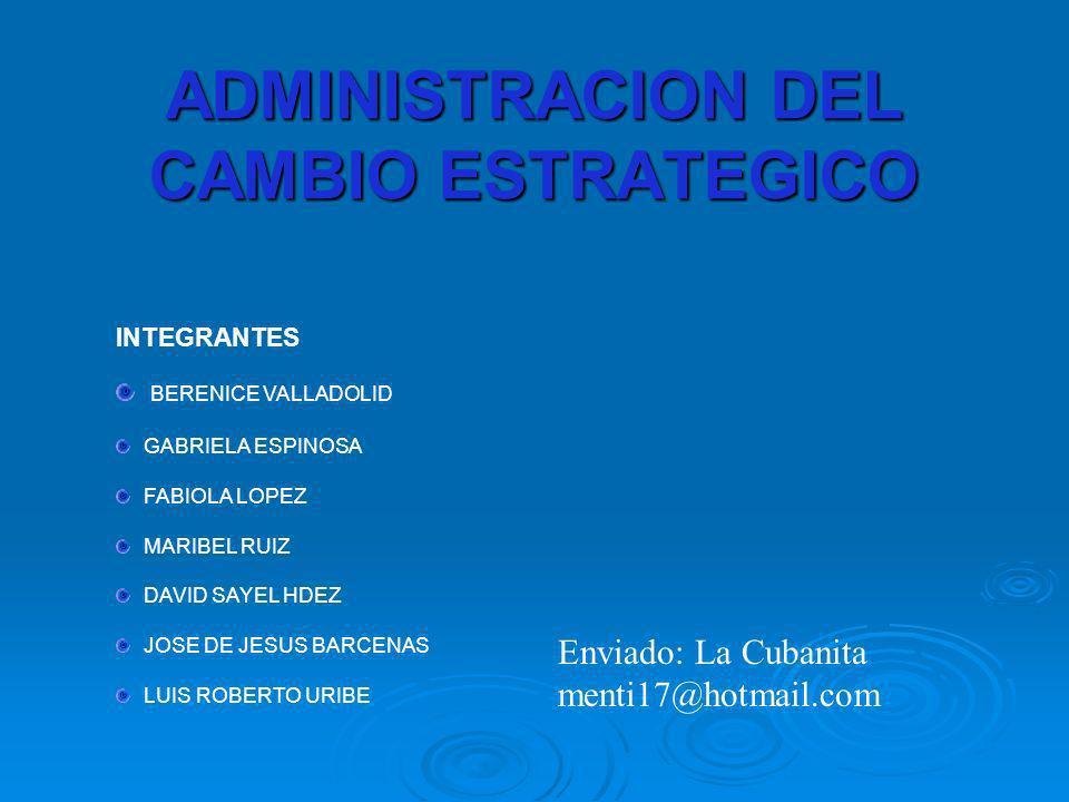 ADMINISTRACION DEL CAMBIO ESTRATEGICO