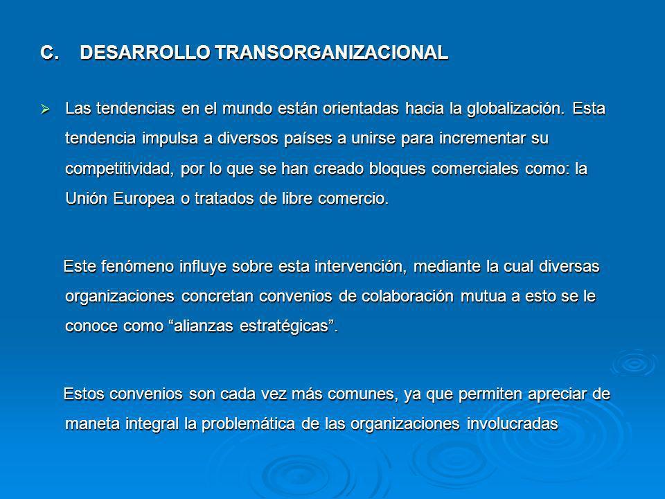 C. DESARROLLO TRANSORGANIZACIONAL