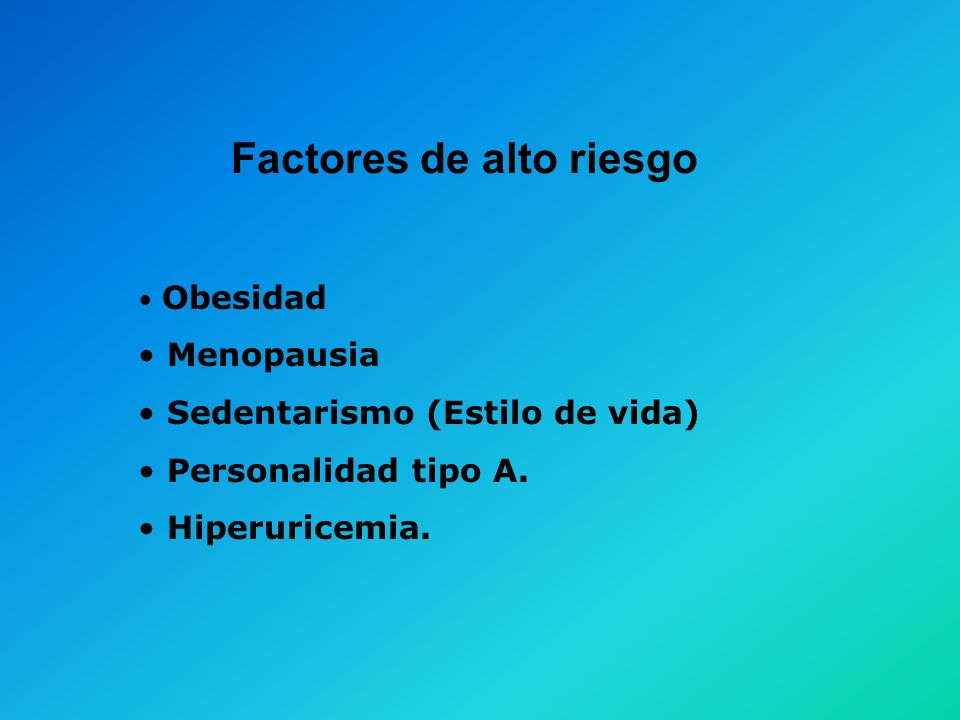 Factores de alto riesgo