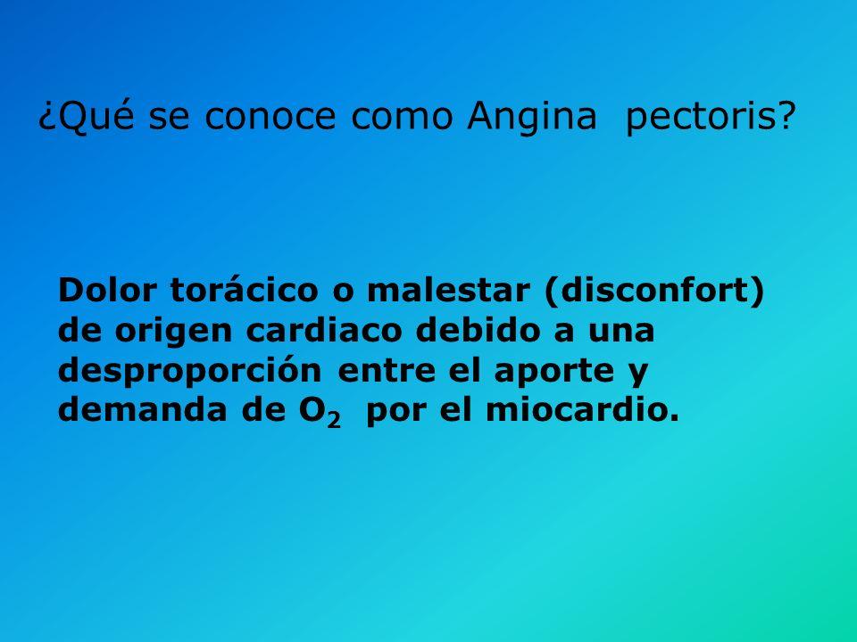 ¿Qué se conoce como Angina pectoris
