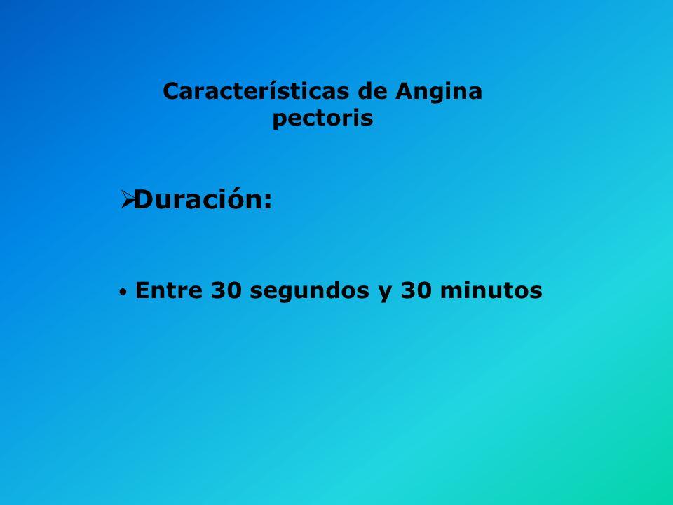 Características de Angina pectoris