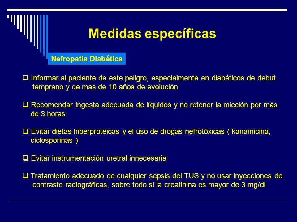 Medidas específicas Nefropatia Diabética