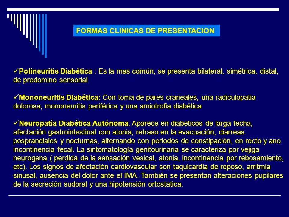 FORMAS CLINICAS DE PRESENTACION
