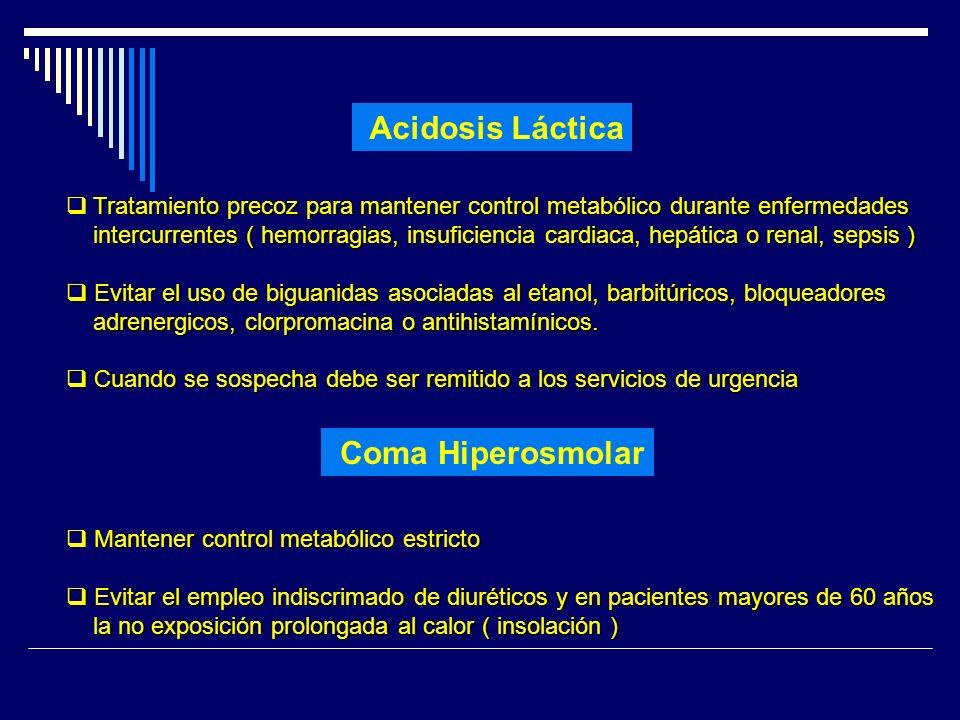 Acidosis Láctica Coma Hiperosmolar
