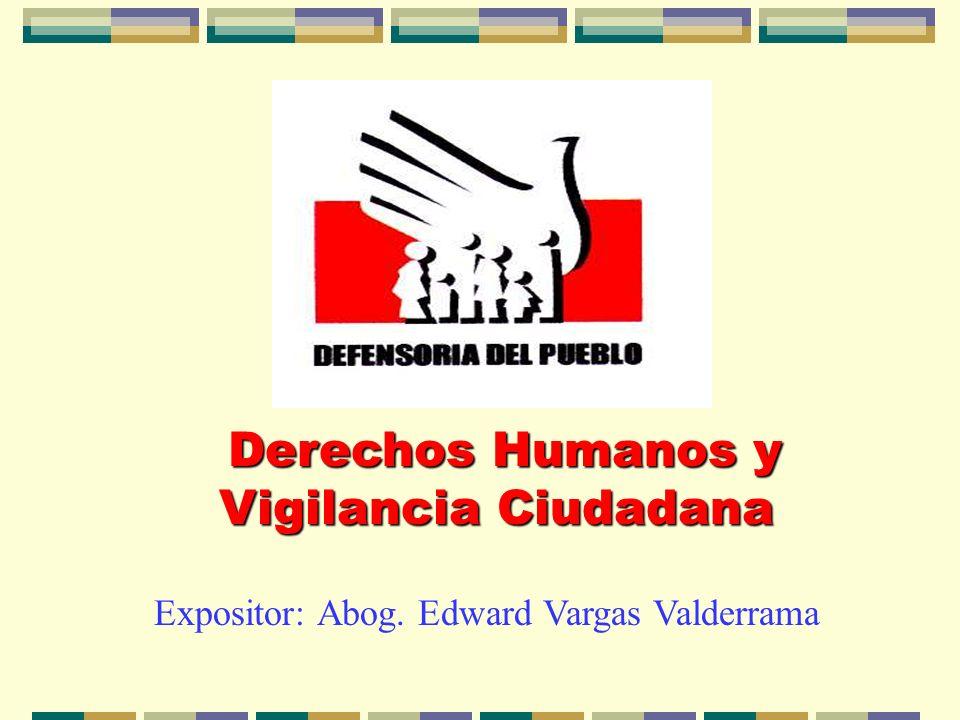 Derechos Humanos y Vigilancia Ciudadana
