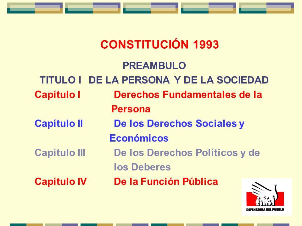TITULO I DE LA PERSONA Y DE LA SOCIEDAD