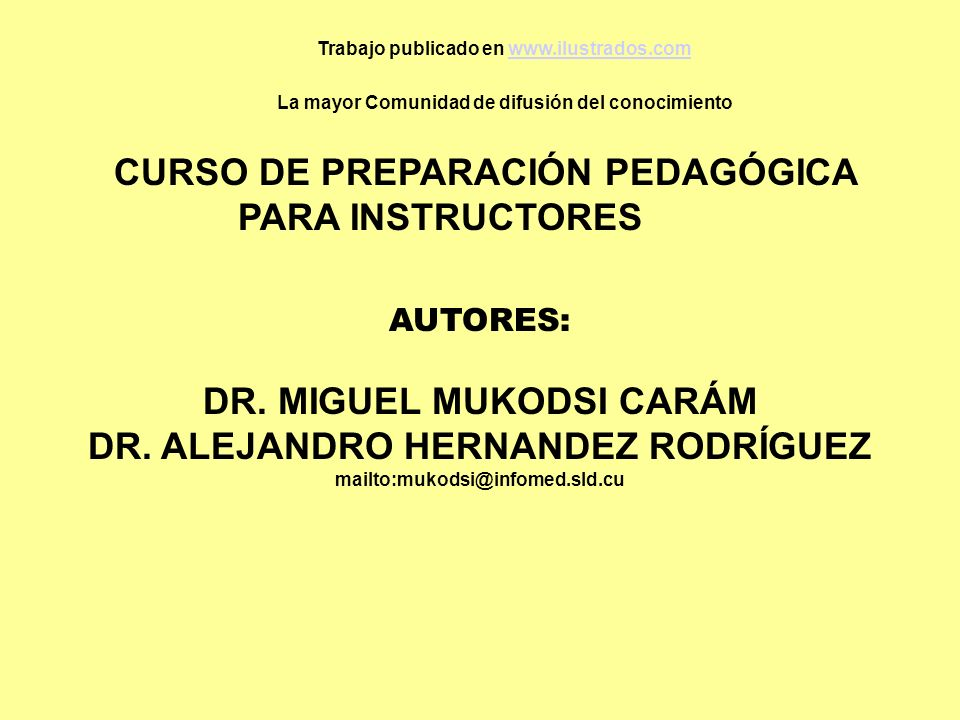DR. MIGUEL MUKODSI CARÁM DR. ALEJANDRO HERNANDEZ RODRÍGUEZ