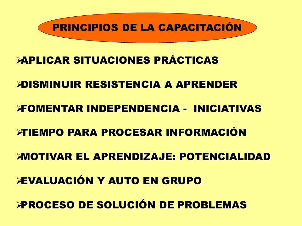 PRINCIPIOS DE LA CAPACITACIÓN