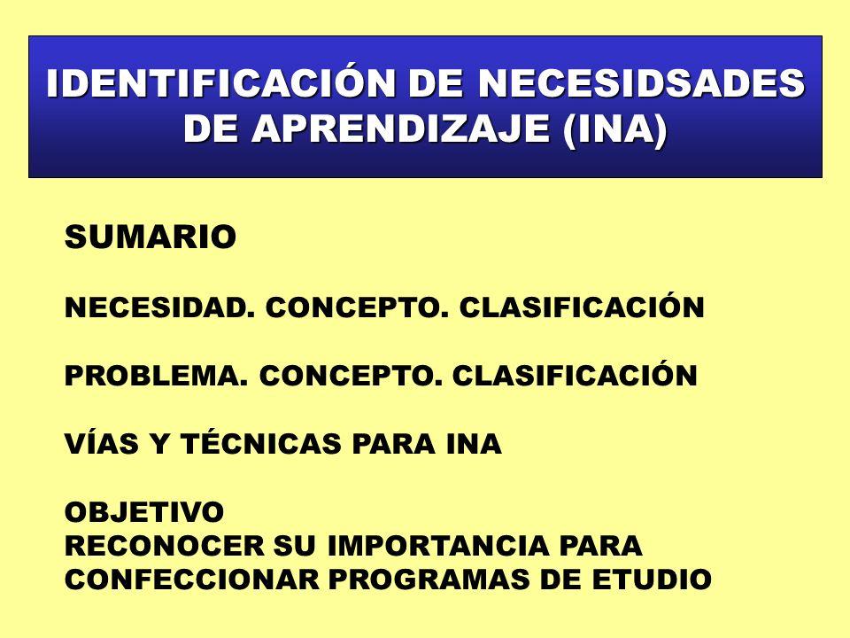 IDENTIFICACIÓN DE NECESIDSADES