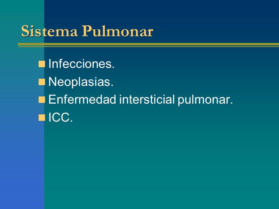 Sistema Pulmonar Infecciones. Neoplasias.