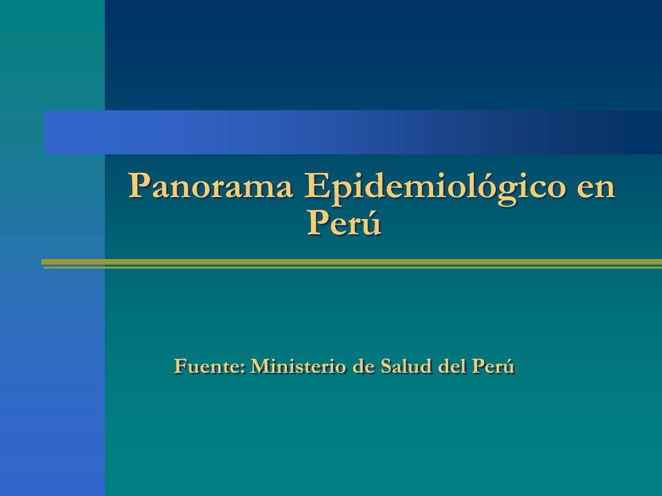 Panorama Epidemiológico en Perú