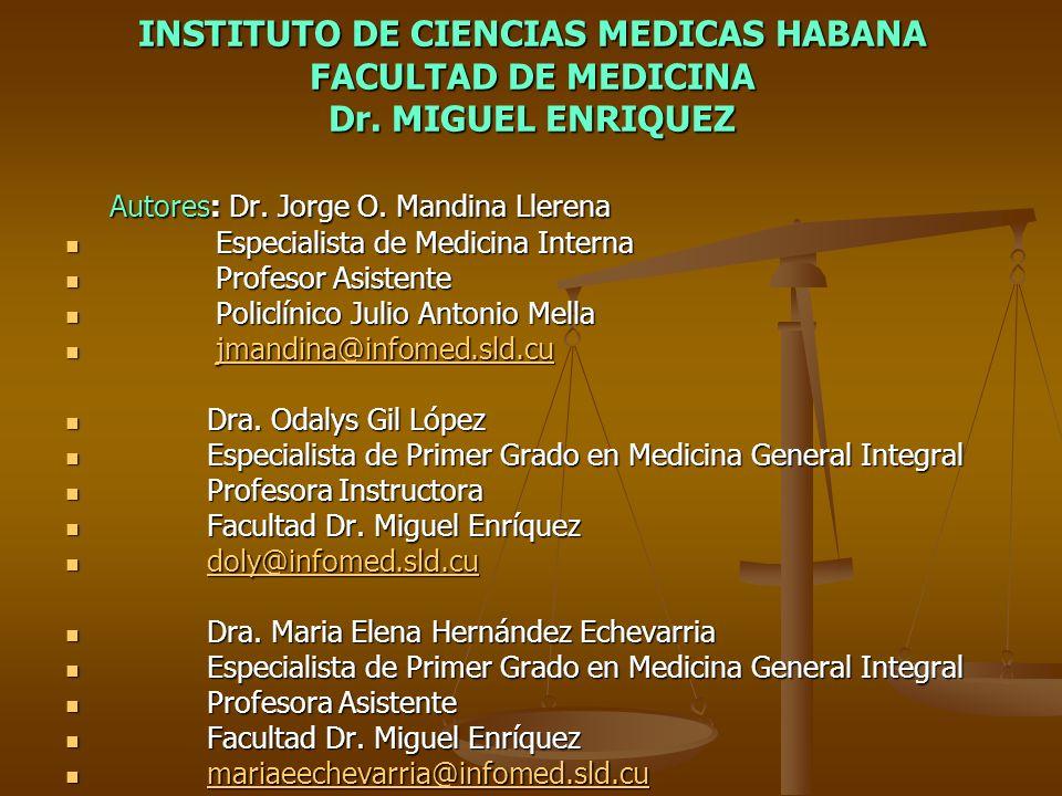 INSTITUTO DE CIENCIAS MEDICAS HABANA