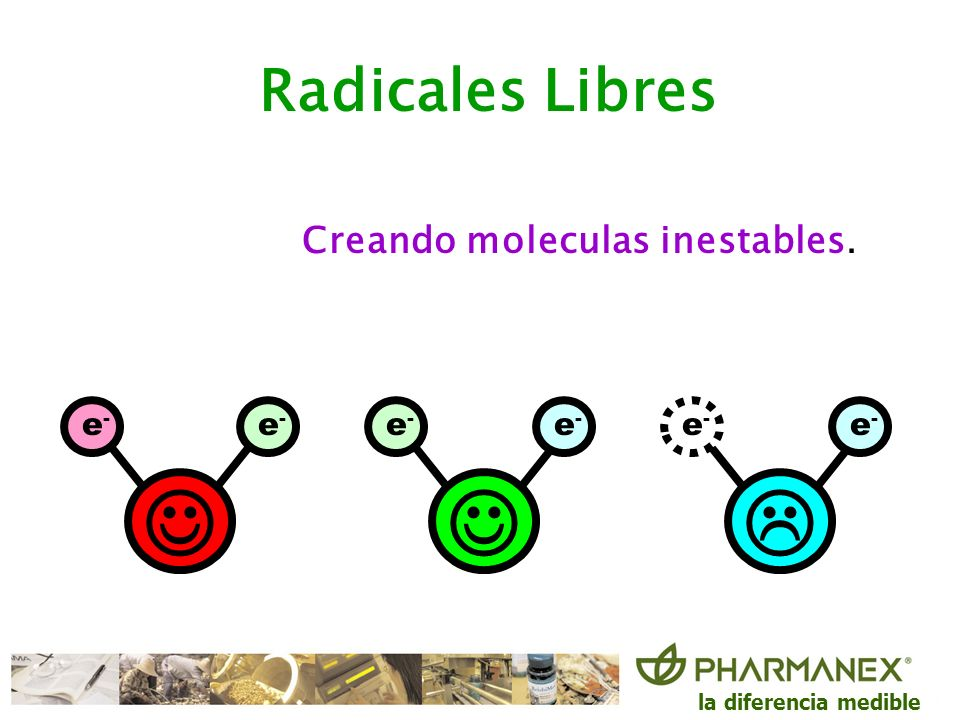 Creando moleculas inestables.