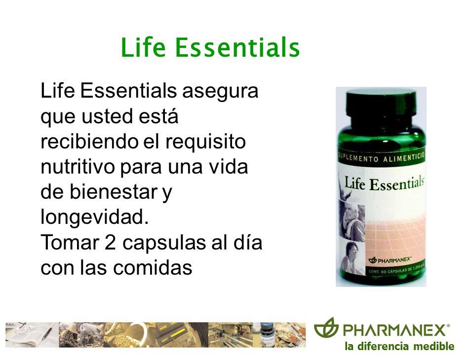 Life Essentials Life Essentials asegura que usted está recibiendo el requisito. nutritivo para una vida de bienestar y longevidad.