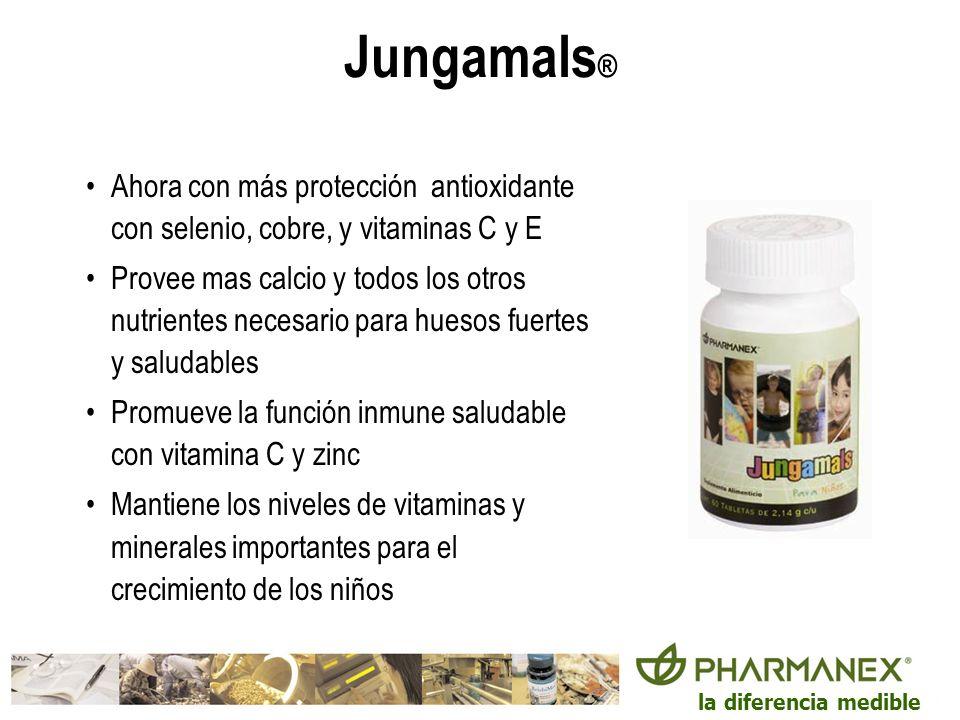Jungamals®Ahora con más protección antioxidante con selenio, cobre, y vitaminas C y E.