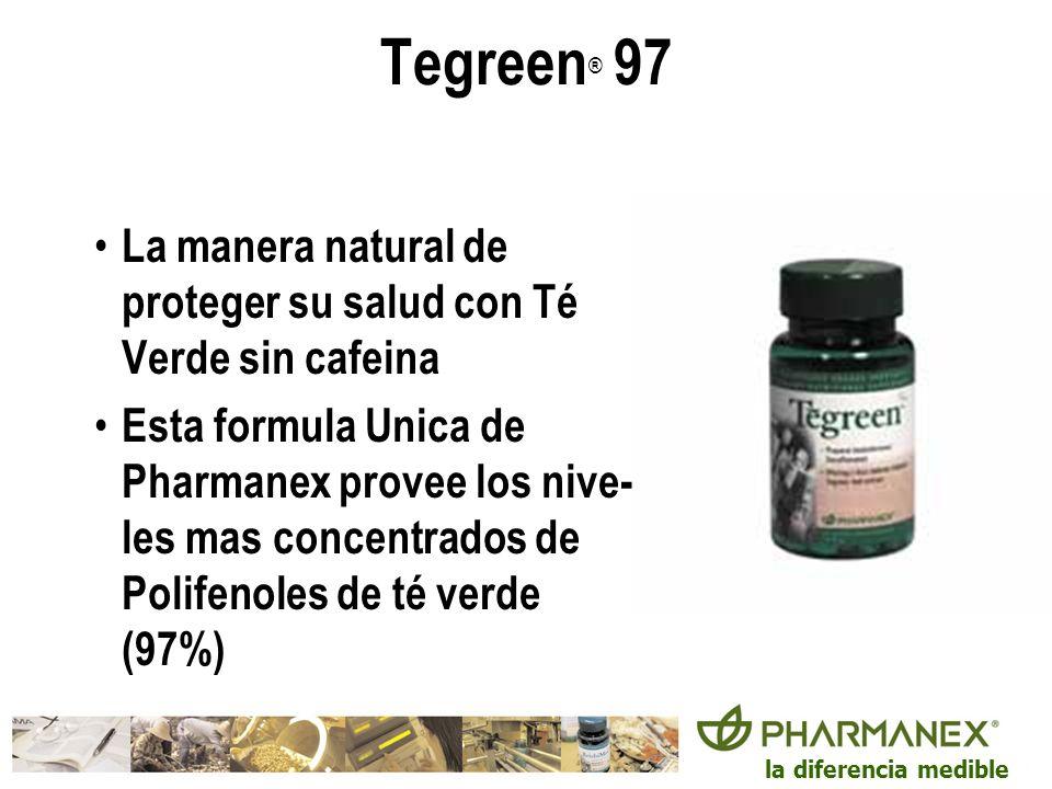 Tegreen® 97La manera natural de proteger su salud con Té Verde sin cafeina.