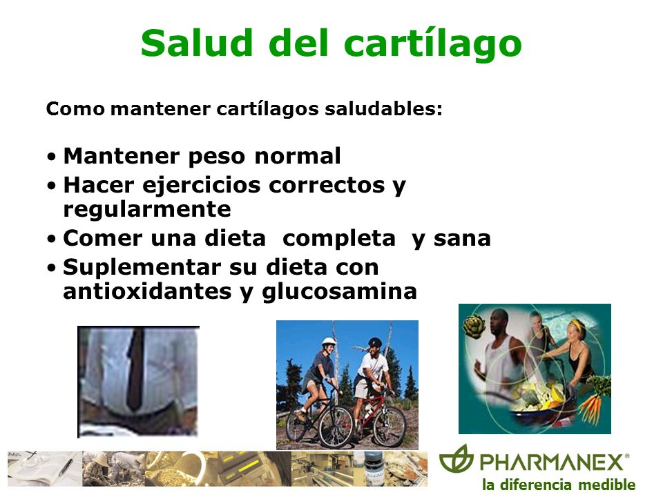 Salud del cartílago Mantener peso normal