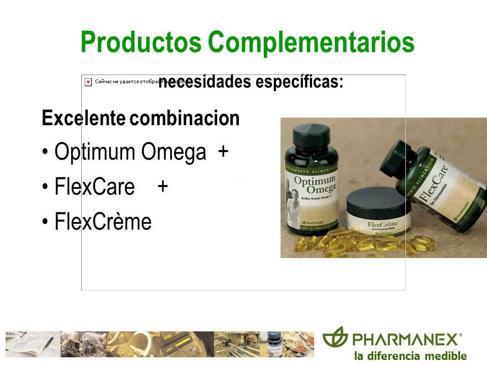 Productos Complementarios necesidades específicas: