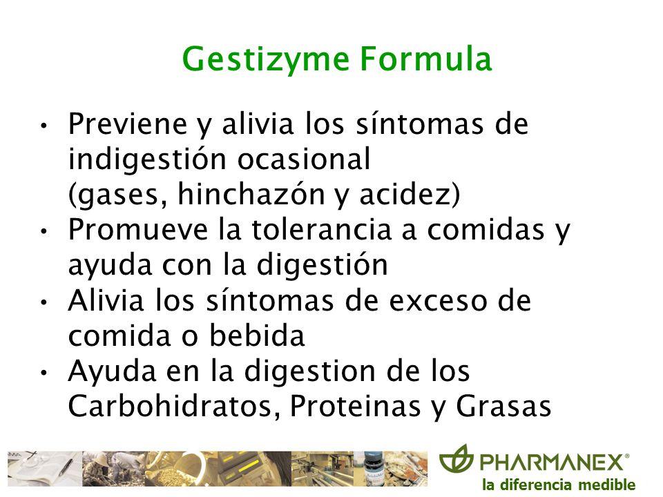 Gestizyme FormulaPreviene y alivia los síntomas de indigestión ocasional (gases, hinchazón y acidez)