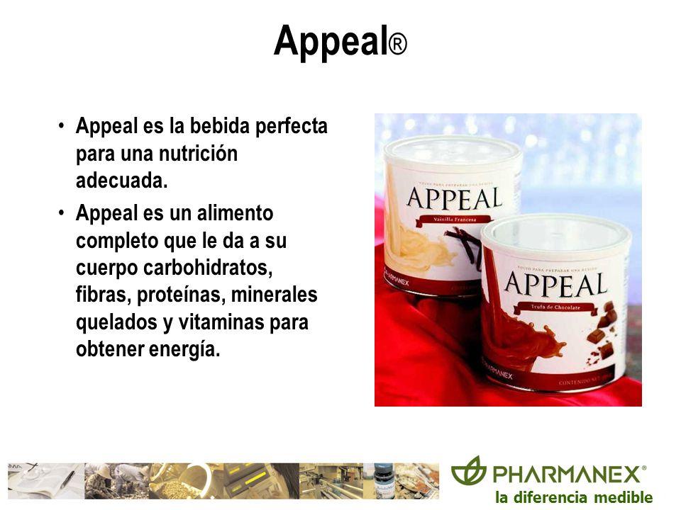 Appeal® Appeal es la bebida perfecta para una nutrición adecuada.