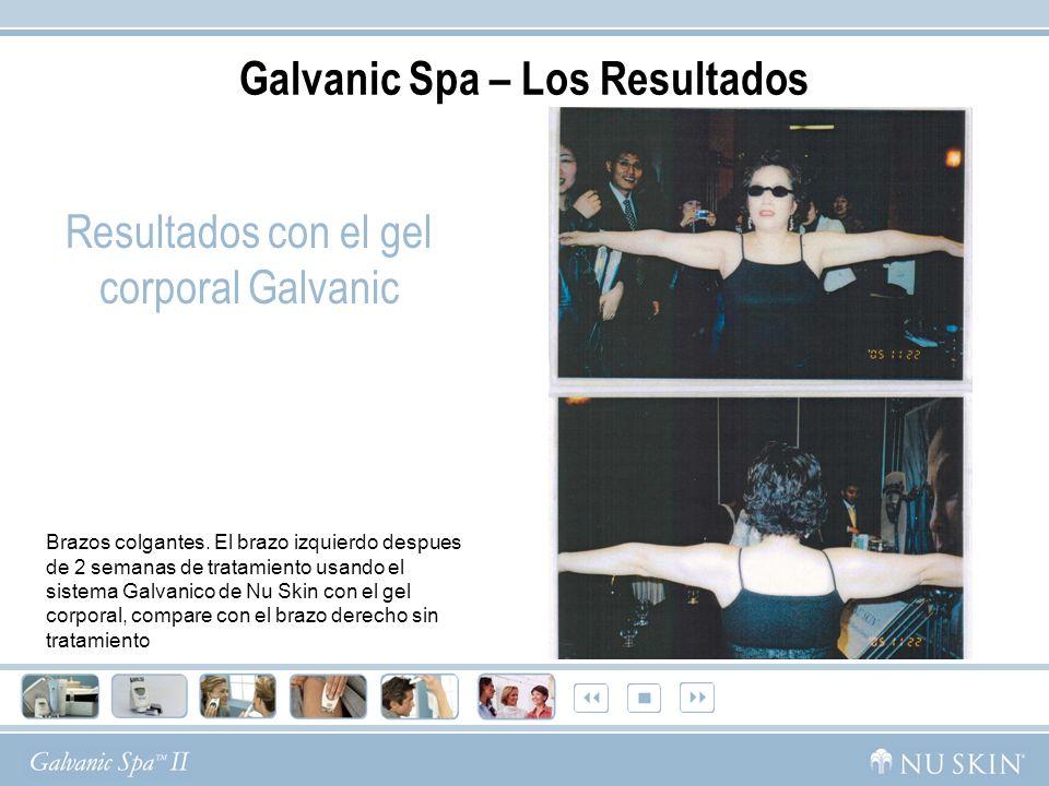 Resultados con el gel corporal Galvanic