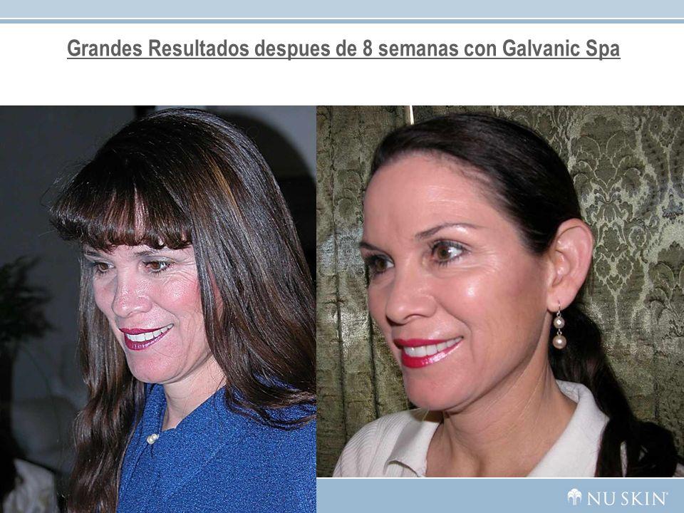Grandes Resultados despues de 8 semanas con Galvanic Spa