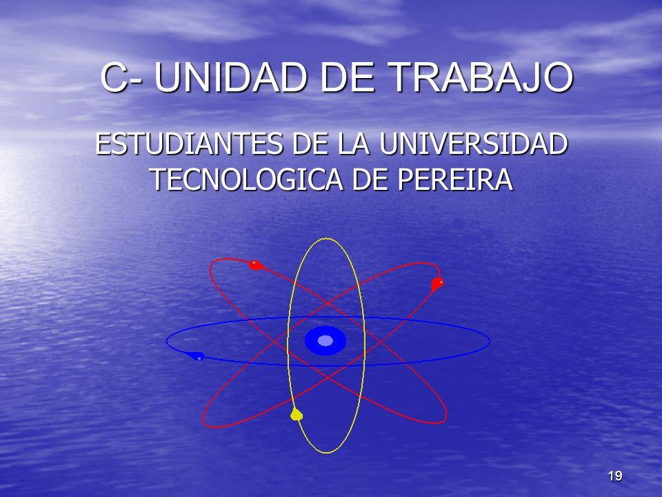 ESTUDIANTES DE LA UNIVERSIDAD TECNOLOGICA DE PEREIRA