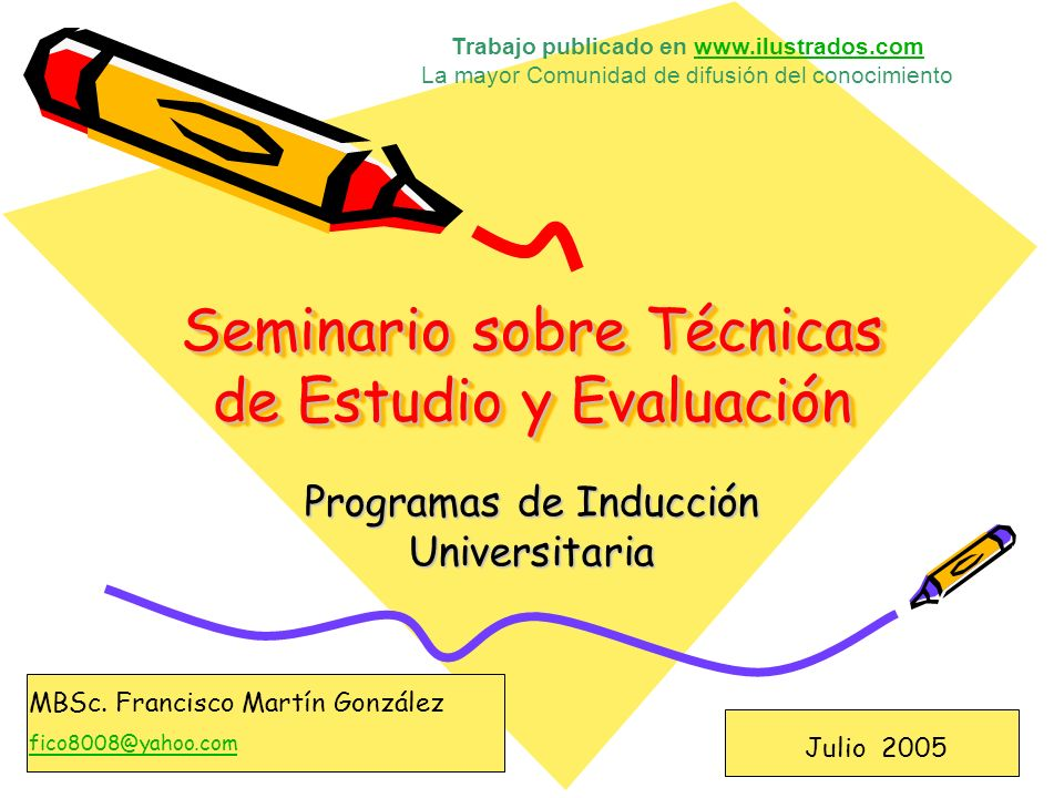 Seminario sobre Técnicas de Estudio y Evaluación