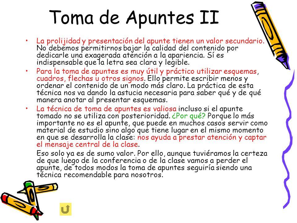 Toma de Apuntes II